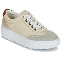 Cipők Női Rövid szárú edzőcipők Geox KAULA Szürke