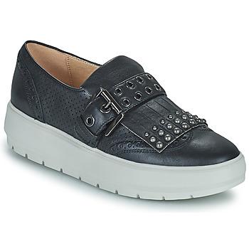 Cipők Női Rövid szárú edzőcipők Geox KAULA Fekete