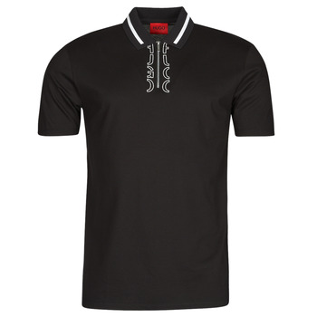 Ruhák Férfi Rövid ujjú galléros pólók HUGO DOLMAR Fekete  / Fehér