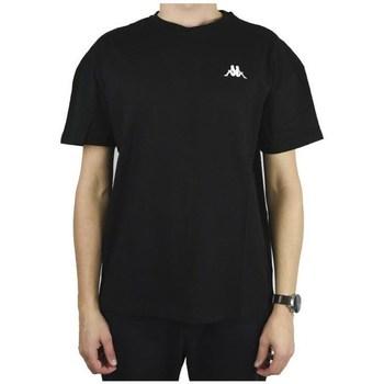 Ruhák Férfi Rövid ujjú pólók Kappa Veer Tshirt Fekete