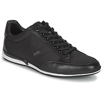 Cipők Férfi Rövid szárú edzőcipők BOSS Saturn_Lowp_nyst Fekete