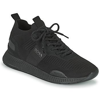 Cipők Férfi Rövid szárú edzőcipők BOSS TITANIUM RUNN KNST1 Fekete