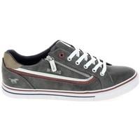 Cipők Rövid szárú edzőcipők Mustang Sneaker 4147301 Gris fonce Szürke