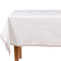 Otthon Asztalterítő Comptoir de famille NAPPE CARRÉE Fehér