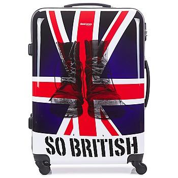 Táskák Keményfedeles bőröndök David Jones UNION JACK 83L Sokszínű