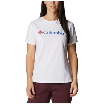 Ruhák Női Rövid ujjú pólók Columbia Sun Trek W Graphic Tee Fehér