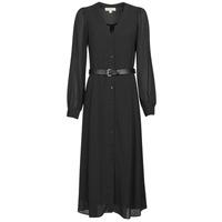 Ruhák Női Hosszú ruhák MICHAEL Michael Kors CRINKLE DOTS KATE DRS Fekete