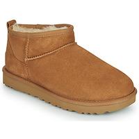 Cipők Női Csizmák UGG CLASSIC ULTRA MINI Teve