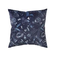 Otthon Párnahuzatok Broste Copenhagen BELL FLOWER Kék / Este