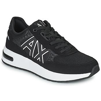 Cipők Férfi Rövid szárú edzőcipők Armani Exchange MALIKA Fekete  / Fehér