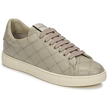 Cipők Női Rövid szárú edzőcipők Emporio Armani DANSSE Bézs / Fehér