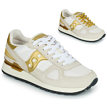 Cipők Női Rövid szárú edzőcipők Saucony SHADOW ORIGINAL Fehér / Arany