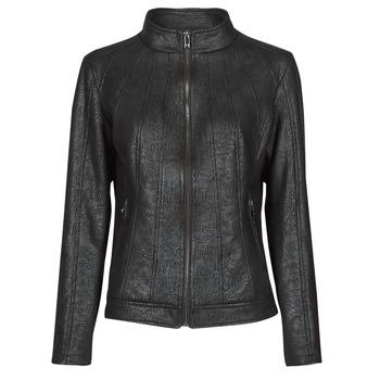 Ruhák Női Bőrkabátok / műbőr kabátok Desigual COMARUGA Fekete