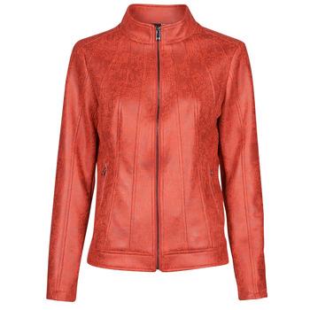 Ruhák Női Bőrkabátok / műbőr kabátok Desigual COMARUGA Piros