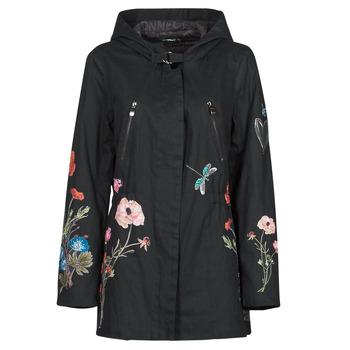 Ruhák Női Parka kabátok Desigual BELENO Fekete