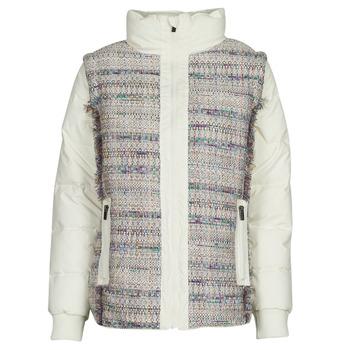Ruhák Női Steppelt kabátok Desigual STORNI Fehér