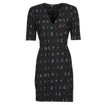 Ruhák Női Rövid ruhák Desigual SOLE Fekete