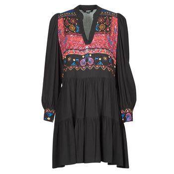 Ruhák Női Rövid ruhák Desigual SOLSONA Fekete