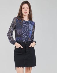 Ruhák Női Hosszú ujjú pólók Desigual BELLADONA Tengerész