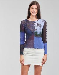 Ruhák Női Hosszú ujjú pólók Desigual PATCHAFRICA Kék