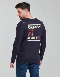 Ruhák Férfi Hosszú ujjú pólók Oxbow N2TORJOK Tengerész