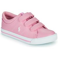 Cipők Lány Rövid szárú edzőcipők Polo Ralph Lauren ELMWOOD EZ Rózsaszín