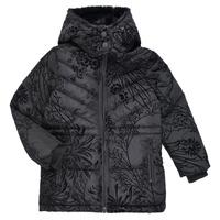 Ruhák Lány Steppelt kabátok Desigual MOSELLE Fekete