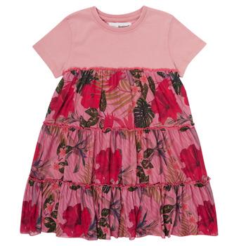 Ruhák Lány Rövid ruhák Desigual ZAFIRO Rózsaszín
