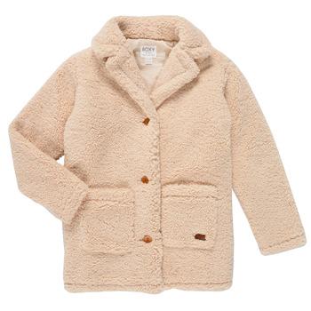 Ruhák Lány Kabátok Roxy RUNAWAY BABY Fehér