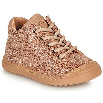 Cipők Lány Csizmák Bisgaard THOR Rózsaszín / Arany
