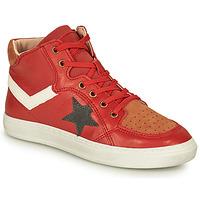 Cipők Fiú Magas szárú edzőcipők Bisgaard ISAK Piros