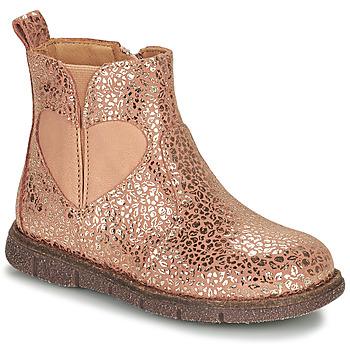 Cipők Lány Csizmák Bisgaard MELODY Rózsaszín / Arany