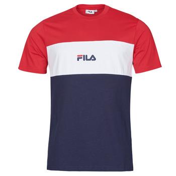 Ruhák Férfi Rövid ujjú pólók Fila ANOKI Piros / Tengerész / Fehér