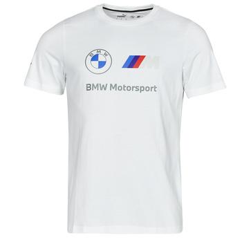 Ruhák Férfi Rövid ujjú pólók Puma BMW MMS ESS LOGO TEE Fehér
