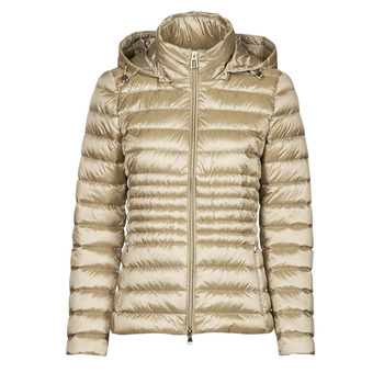 Ruhák Női Steppelt kabátok Geox JAYSEN HOOD Ekrü