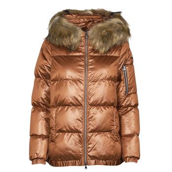 Ruhák Női Steppelt kabátok Geox BAKSIE Barna / Frozen