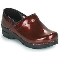 Cipők Női Klumpák Sanita PROF Bordó