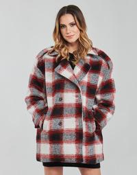 Ruhák Női Kabátok Kaporal FEO Bézs / Piros
