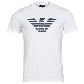 Ruhák Férfi Rövid ujjú pólók Emporio Armani 8N1TN5 Fehér