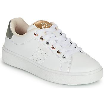Cipők Lány Rövid szárú edzőcipők Kappa SAN REMO Fehér / Arany / Ezüst