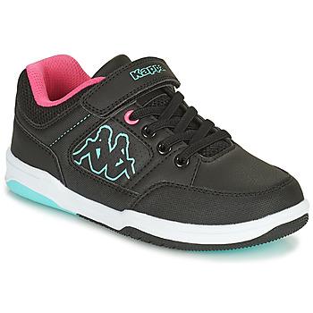 Cipők Lány Rövid szárú edzőcipők Kappa KASH LOW EV Fekete  / Kék / Rózsaszín