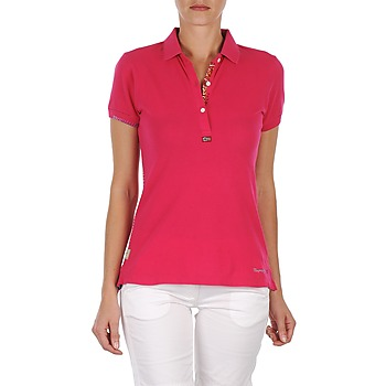 material Női Rövid ujjú galléros pólók Napapijri ELINDA Rózsaszín