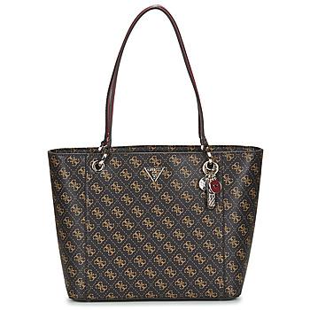 Táskák Női Bevásárló szatyrok / Bevásárló táskák Guess NOELLE ELITE TOTE Barna
