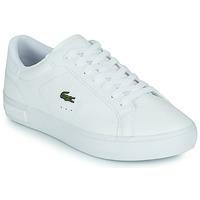 Cipők Női Rövid szárú edzőcipők Lacoste POWERCOURT 0721 2 SFA Fehér