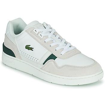 Cipők Férfi Rövid szárú edzőcipők Lacoste T-CLIP 0120 3 SMA Fehér / Bézs