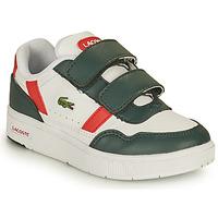 Cipők Gyerek Rövid szárú edzőcipők Lacoste T-CLIP 0121 2 SUI Fehér / Zöld / Piros
