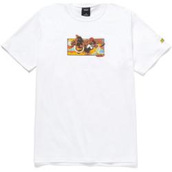 Ruhák Férfi Rövid ujjú pólók Huf T-shirt dhalsim ss Fehér