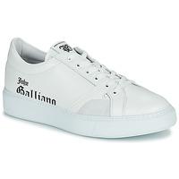 Cipők Férfi Rövid szárú edzőcipők John Galliano MISSISSIPPI Fehér