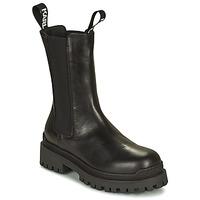 Cipők Női Csizmák Karl Lagerfeld BIKER II LONG GORE BOOT Fekete