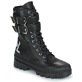 Cipők Női Csizmák Karl Lagerfeld TREKKA II HI CUFF BUCKLE BOOT Fekete